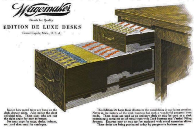 Wagemaker Co Grand Rapids Michigan 1899 1960 Desk With Drawers Furniture Manufacturers Furniture