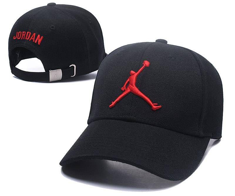 Air Jordan Baseball Caps Black Red Strapback Caps 027  e5f8e1d0fb7