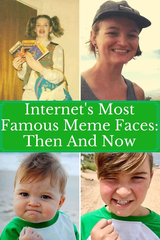 Internet S Most Famous Meme Faces Then And Now Meme Faces Memes Funny Pictures