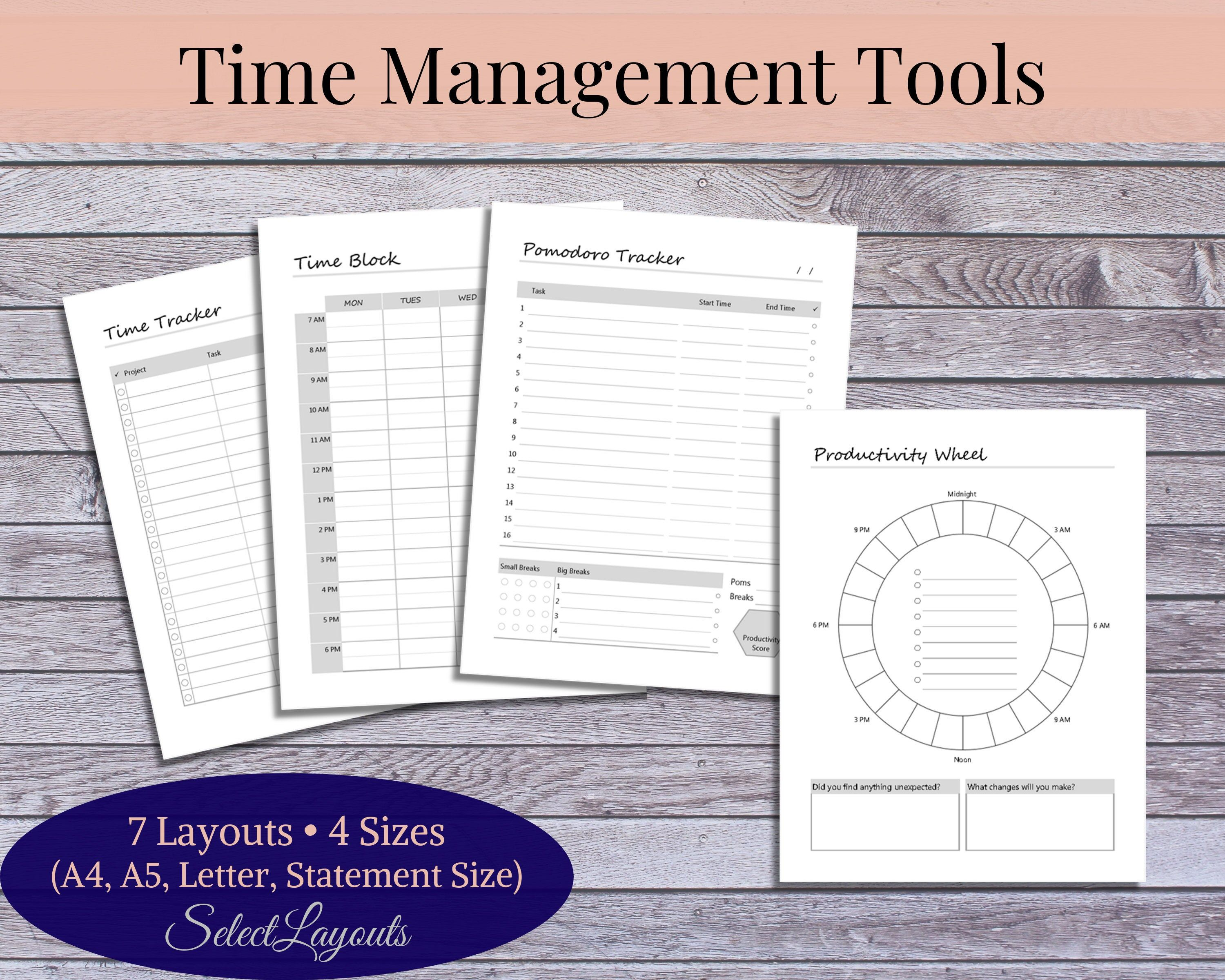 Time Management Tools Printable Template With