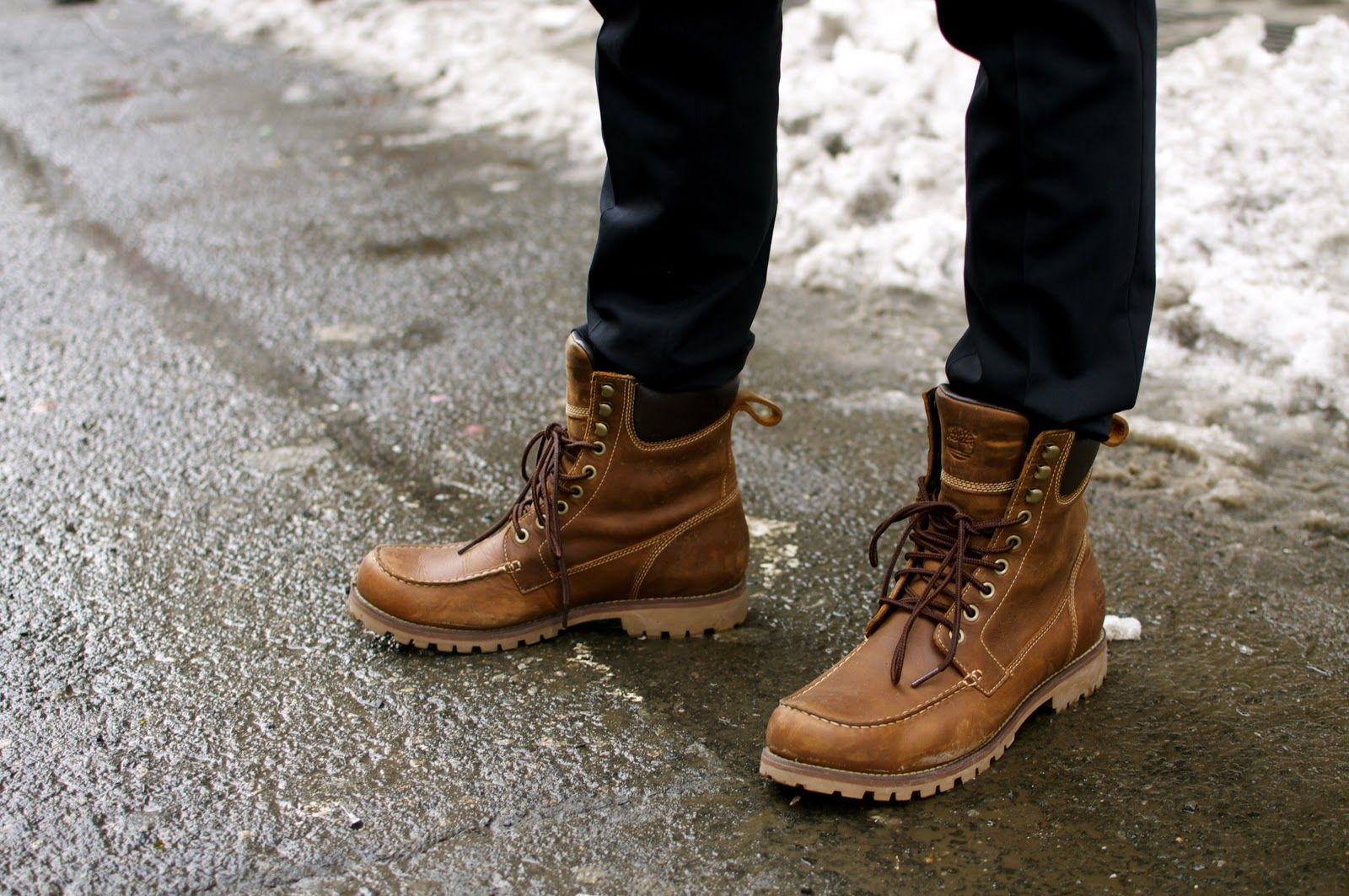 Winter mens fashion boots photo