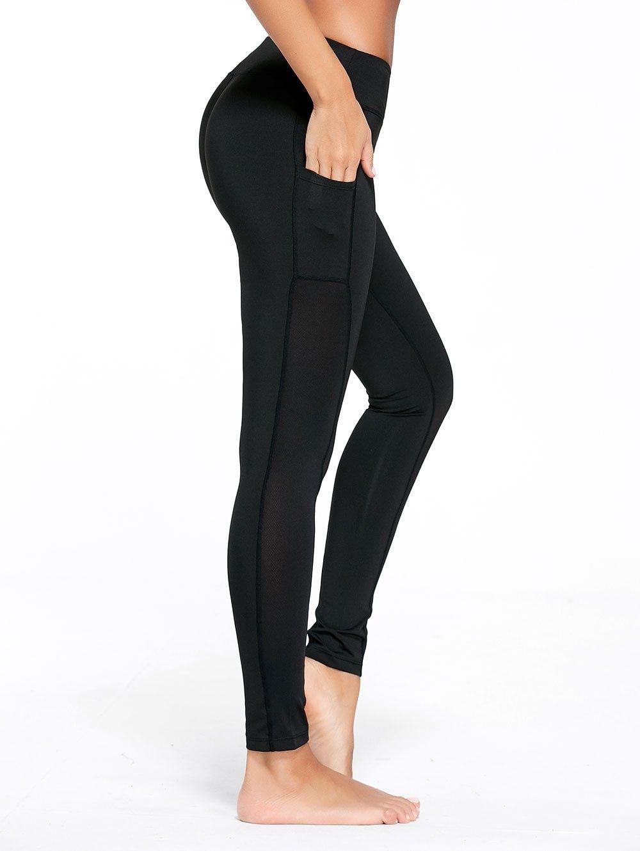 9d1c992d91869 Side Pocket Workout Leggings - BLACK M | Clothes Shika Finds and ...