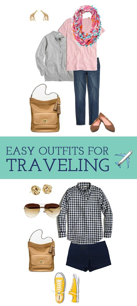 Easy outfits to put together and pack that are also comfortable to wear on your travels! #WearingThisWeek - via @karolinez