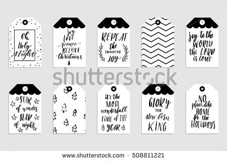 Collection Of Stylish Black White Gold New Year And Christmas Gift Cards Set Of Printab Black White And Gold Christmas Black White Gold Greeting Card Template
