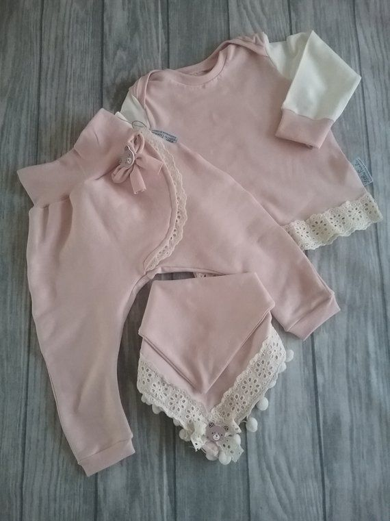 Pumphose baby girl, pants kids, top borrows, pink baby clothes