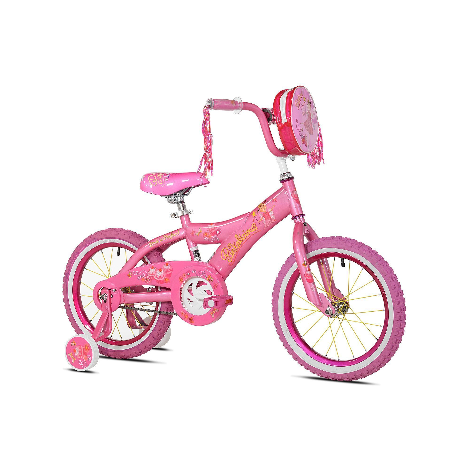 Girls Kent 16 Inch Pinkalicious Bike With Training Wheels Bike With Training Wheels Bikes Girls Childrens Bike