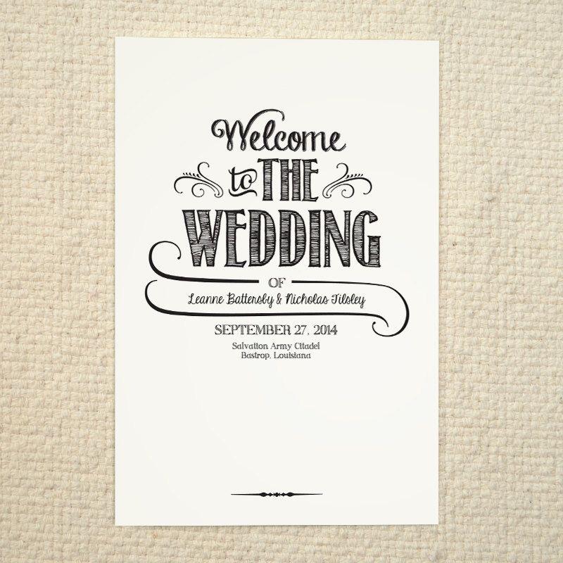 Diy Wedding Program Order Of Service By Amyadamsprintables 15 00