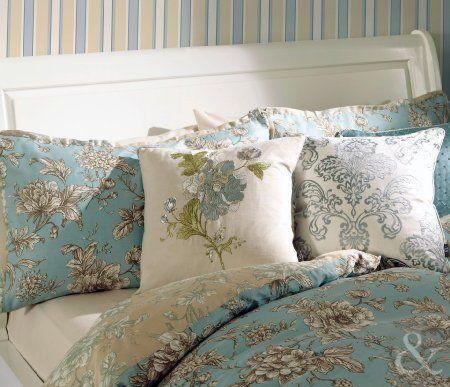 Luxury Cotton French Duvet Cover Reversible Toile Bedding Vintage Bed Linen Set Duck Egg Blue Bei Luxury Bedding Master Bedroom Bed Linens Luxury Bed Pillows