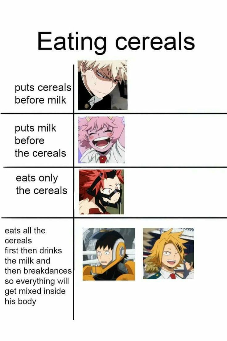 I Literally Just Eat The Cereal By Itself It Just Depends On What Kind Tho Cereal Depends Itself Literally Anime Lustig Lustig Anime Bilder Meme Lustig
