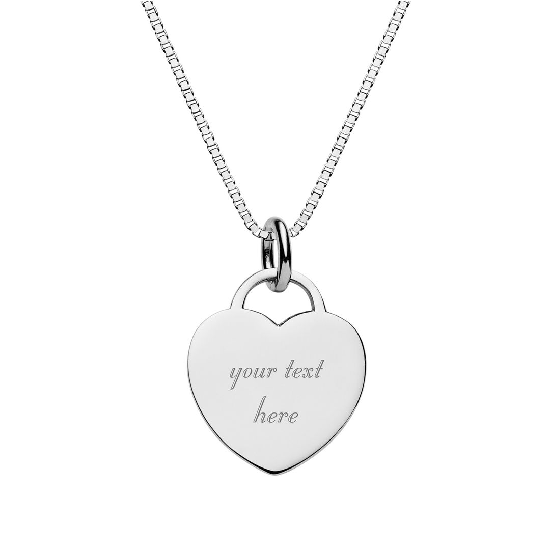 chains locket product engraved wid chain heart key
