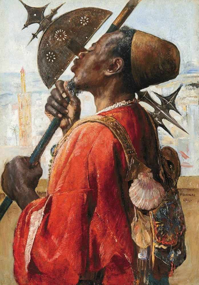 """art-and-things-of-beauty: """" Gyula Tornai (1861-1928) - A guard, oil on panel, 51,5 x 36 cm. 1911. """""""