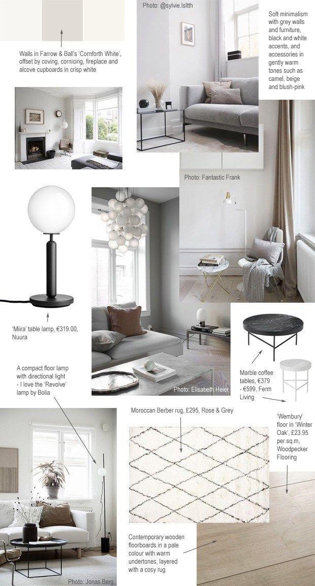My Soft Minimalist Livingroom Makeover Mood Board And Plans Inspiration Home Decorating Blog Plans