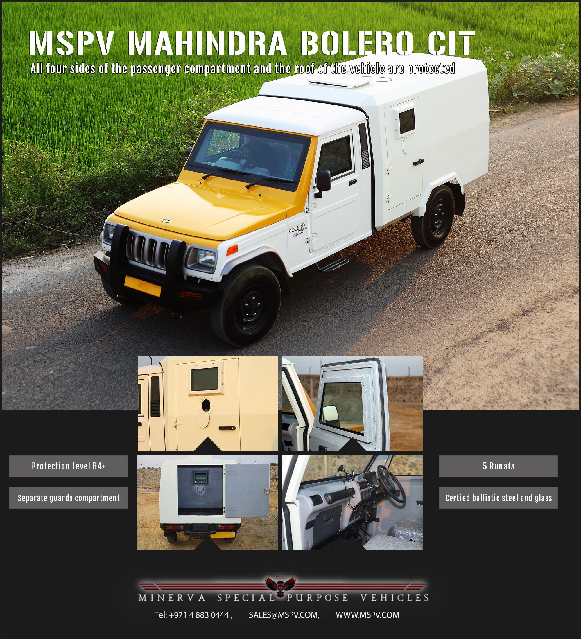 Armored Mahindra Bolero Cit Vehicle Armored Truck Armoured