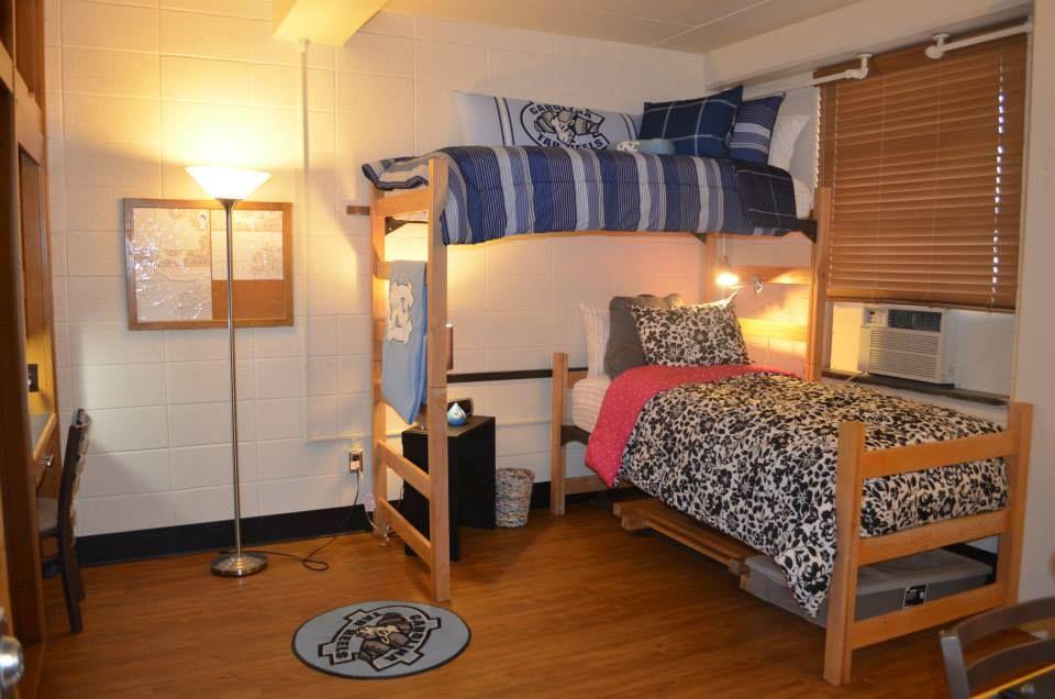 Dorm Room Inspiration Lofted Bed