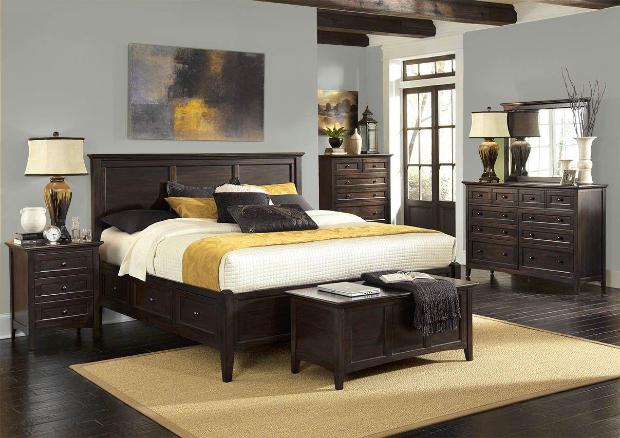 Westlake Dark Mahogany Collection AAmerica Solid Wood