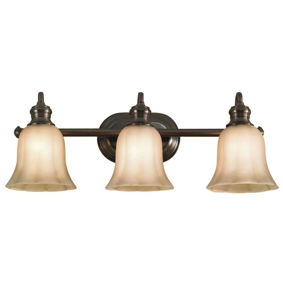 Shop Allen Roth Light OilRubbed Bronze Bathroom Vanity Light At - Bathroom vanity light fixtures oil rubbed bronze