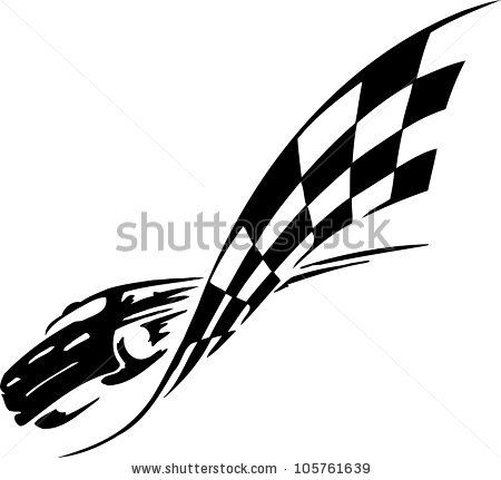Racing Emblem Black And White Style Of Tribals By Digital Clipart Via Shutterstock Car Logo Design Car Icons Cars Mural