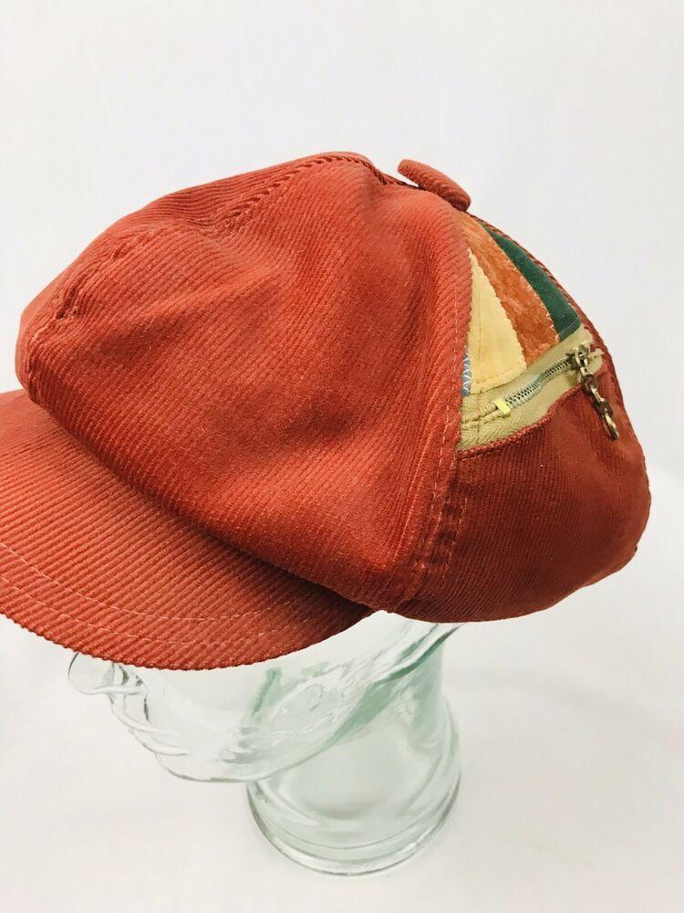 Vintage Mens 60 70s Retro Soul Hippie Disco Corduroy Striped News Boy Cap Hat Ebay Hats Vintage Caps Hats Wool Hat Men