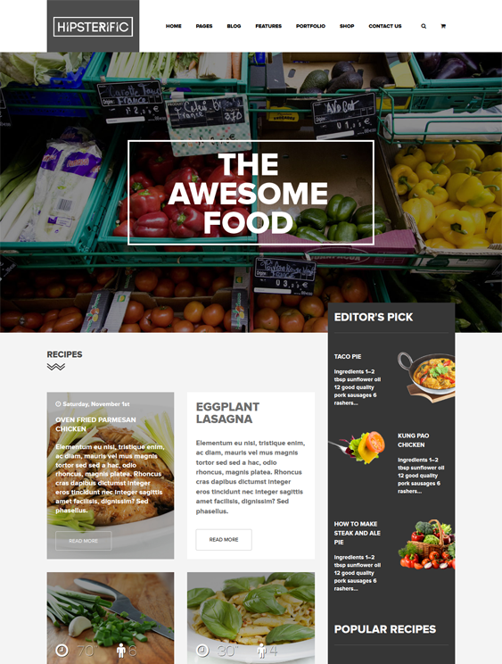 This wordpress theme for food and recipe websites features a this wordpress theme for food and recipe websites features a responsive layout woocommerce compatibility forumfinder Image collections