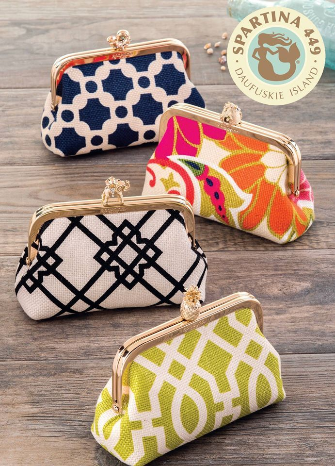 a88802cc920a ... State of Mind~ Spartina s New Spring Summer Collection is here in all  it s glory. Coin purses shown here in beautiful