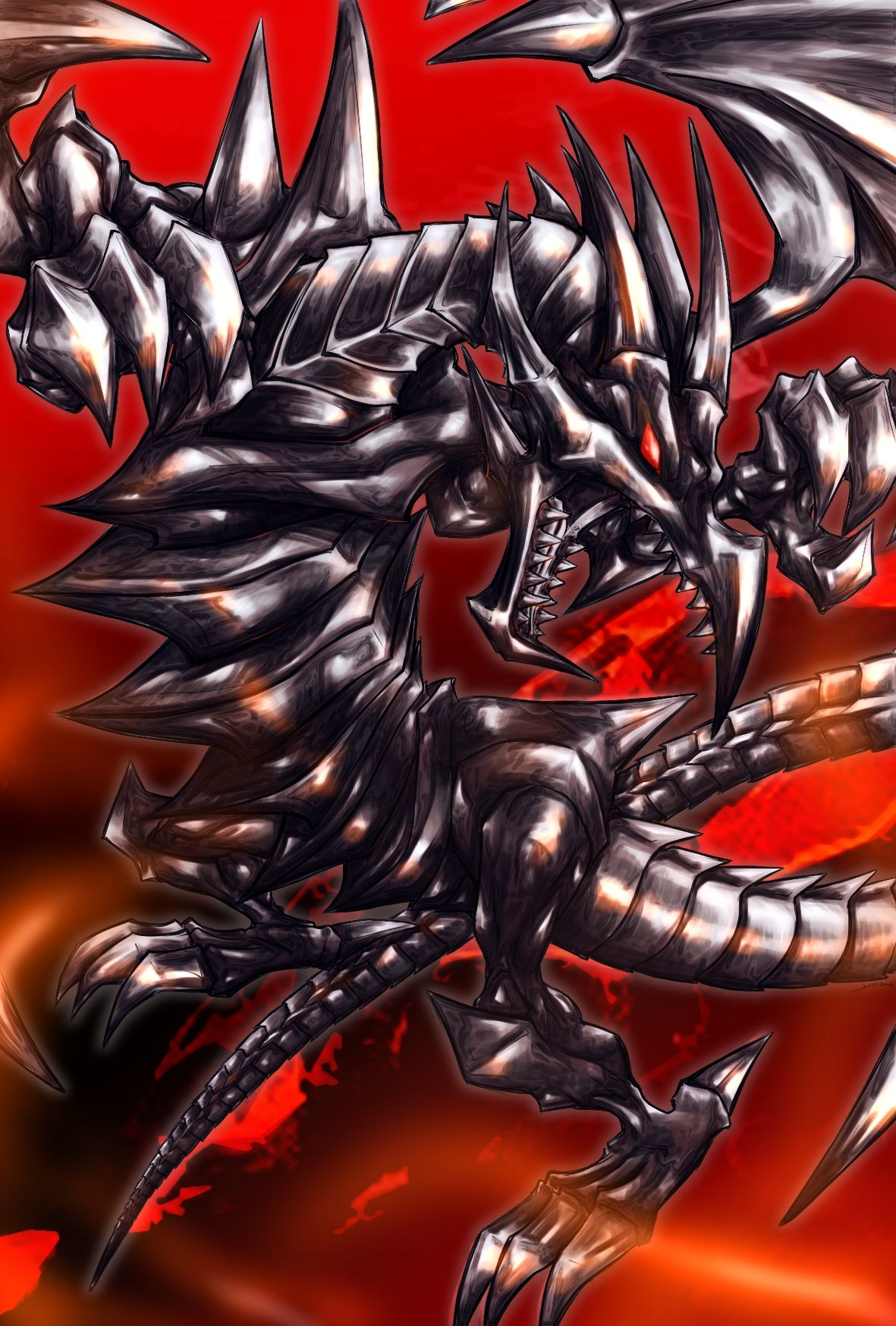 Red Eyes Black Dragon Wallpaper Wallpapersafari Black Dragon