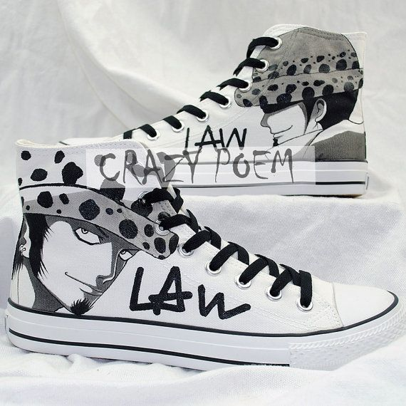 One Piece Shoes Custom Trafalgar Law Shoes High Top Anime Sneakers Hand  Painted Canvas Shoes Best