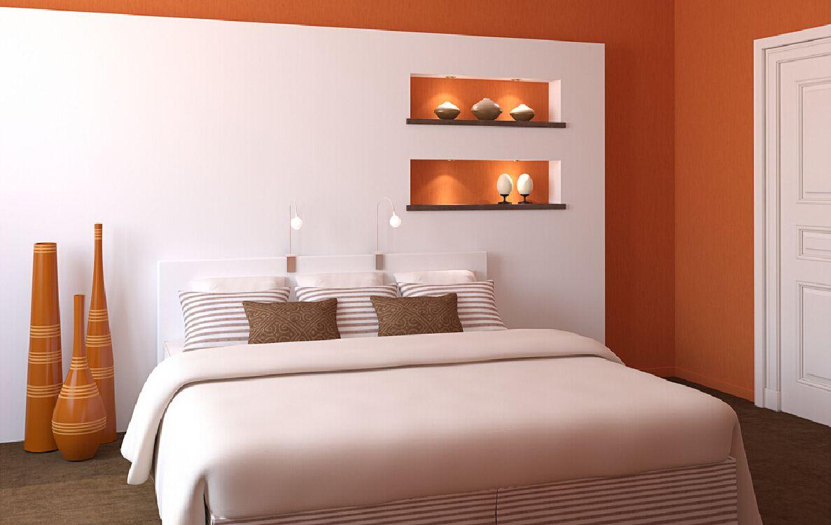 Interior Design White Walls Green Bed Interierovy Design