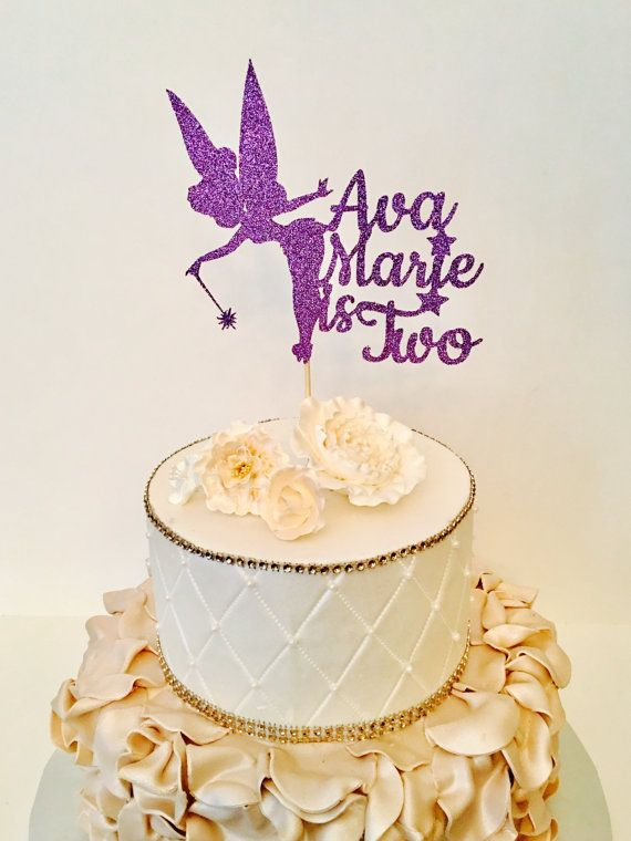 Any Name And Number Tinkerbell Cake Topper By SugarPlumCreationsCo