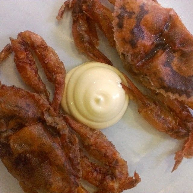 LCHF. Keto. Soft shell crabs.