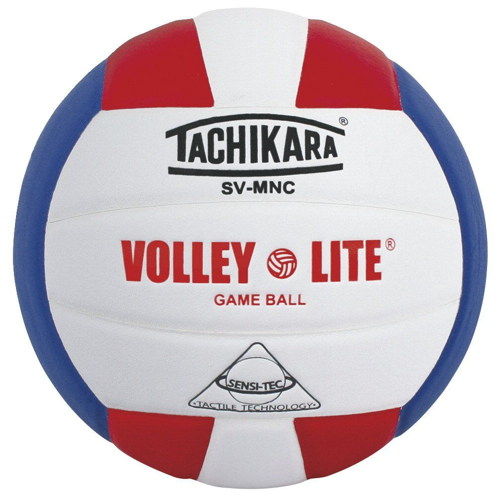 Tachikara Svmn Scl Wh Roy Volley Lite Micro Fiber Composite Leather Volleyball Scarlet White Blue Volleyballs Volley Indoor Volleyball