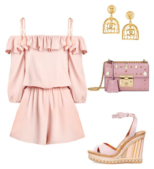 """""""Summer pink"""" by pipiolina on Polyvore featuring moda, Valentino, Chanel y Gucci"""