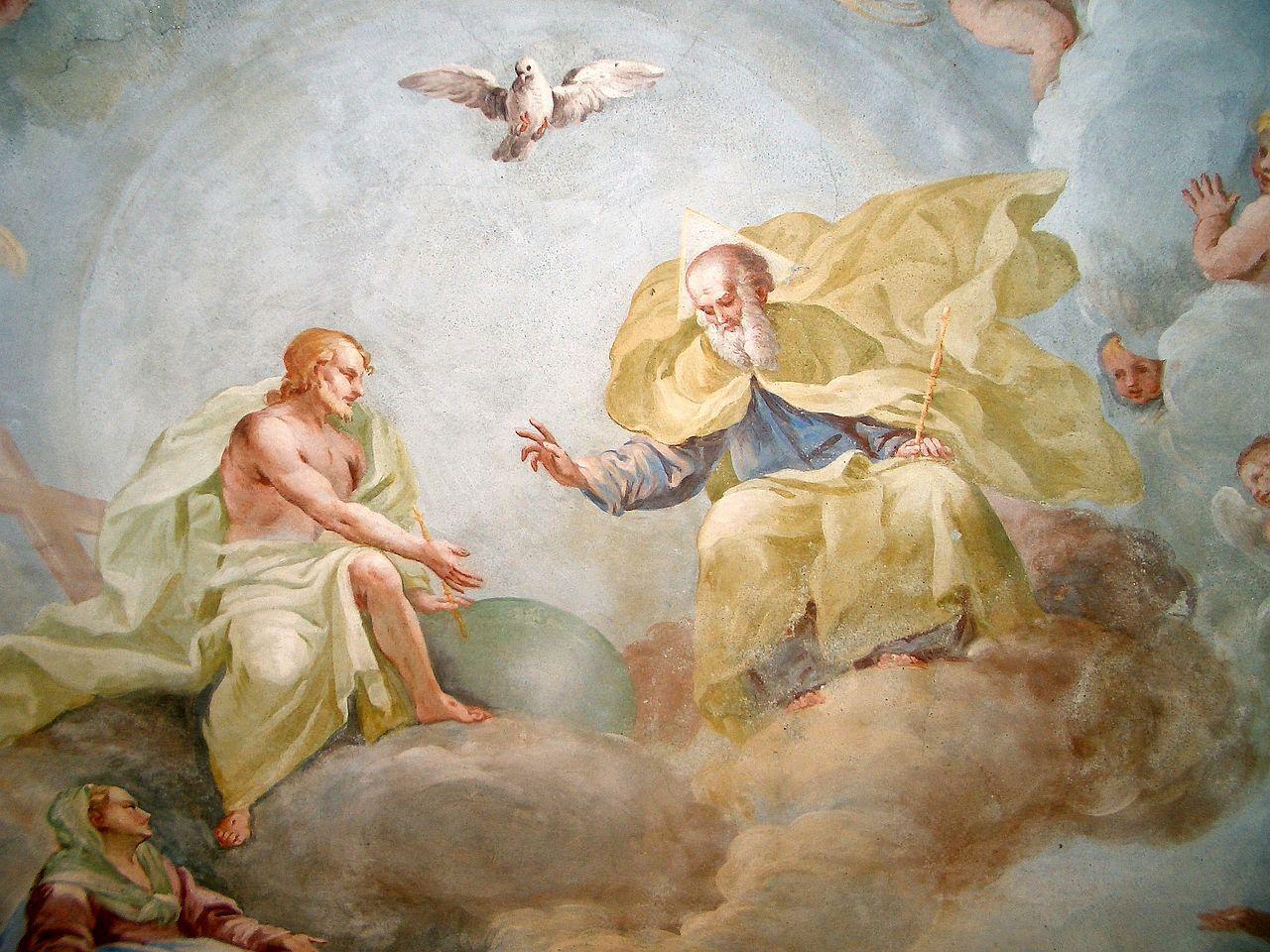 The Holy Trinity by Luca Rossetti da Orta Holy spirit