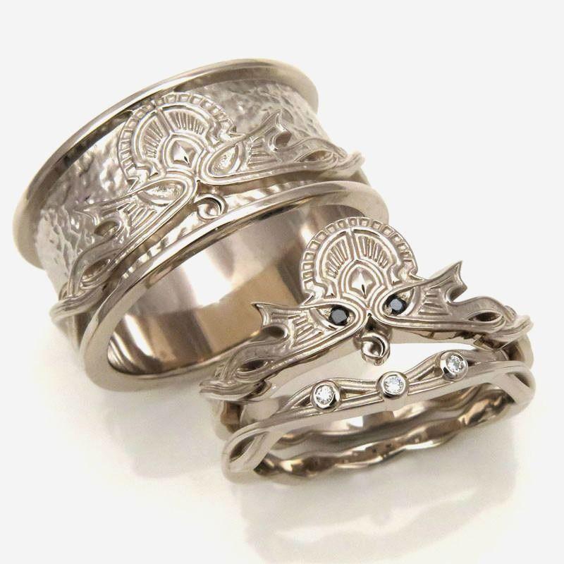 Norse Wedding Rings Norse Wedding Bands Elegant Viking
