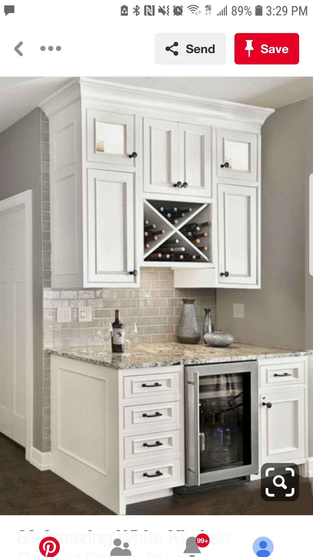 Coffee Nook Kitchen Diy Makeover Kitchen Cabinets Decor