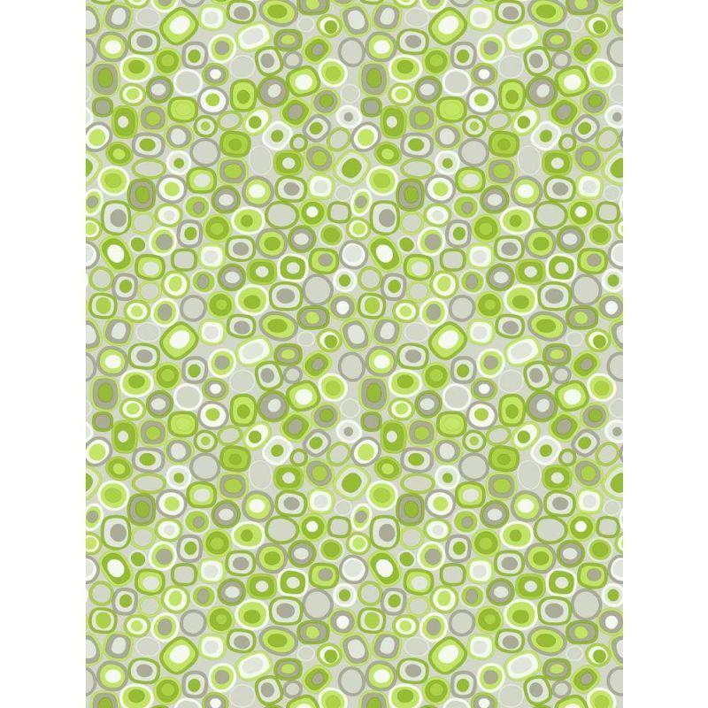 York Wallcoverings Pw3971 Dot Layers Wallpaper Silver Lime Green