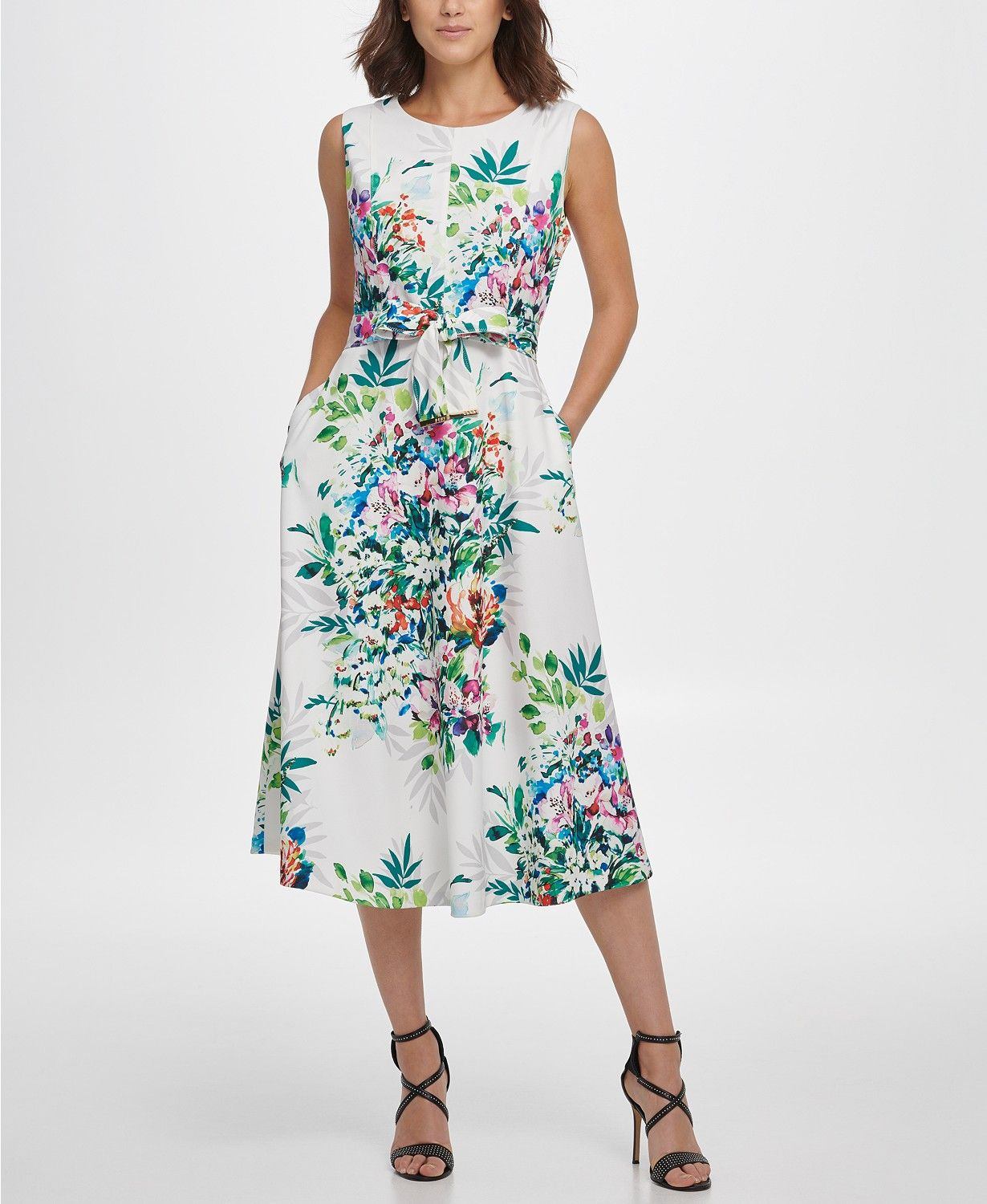 Dkny S L Midi Fit Flare With Self Belt Reviews Dresses Women Macy S Review Dresses Womens Dresses Womens Midi Dresses [ 1500 x 1230 Pixel ]