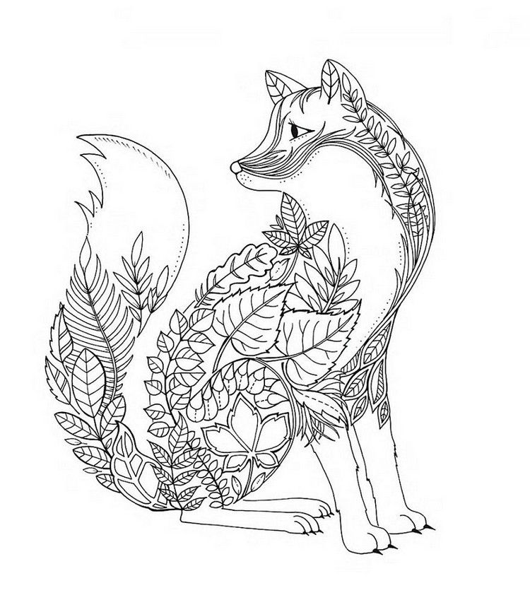 Fox Coloring Pages Fox Coloring Page Adult Coloring Book Pages