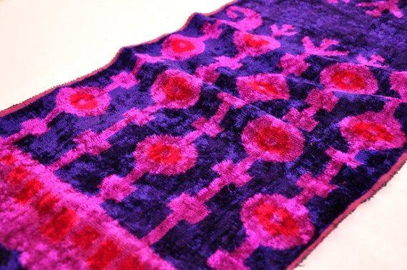 Dark Blue Velvet Ikat Fabric Wholesale, Velvet Ikat Fabric, Silk Fabric, Velvet Upholstery Fabric, I #velvetupholsteryfabric