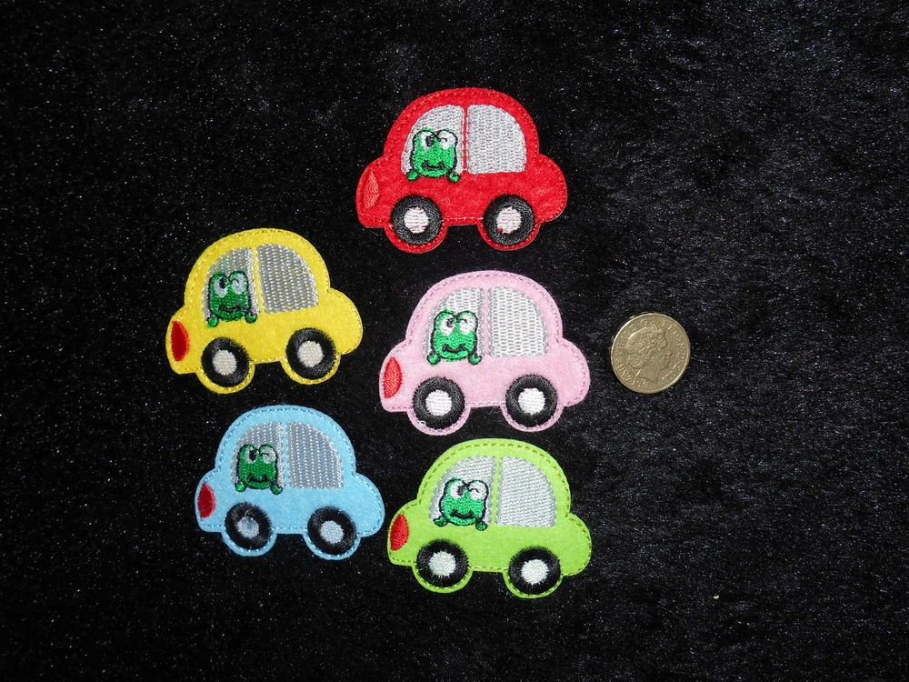 Embroidered 1 car patch, Iron on motif applique patch5.3x4.2cm Novelty craft,fun