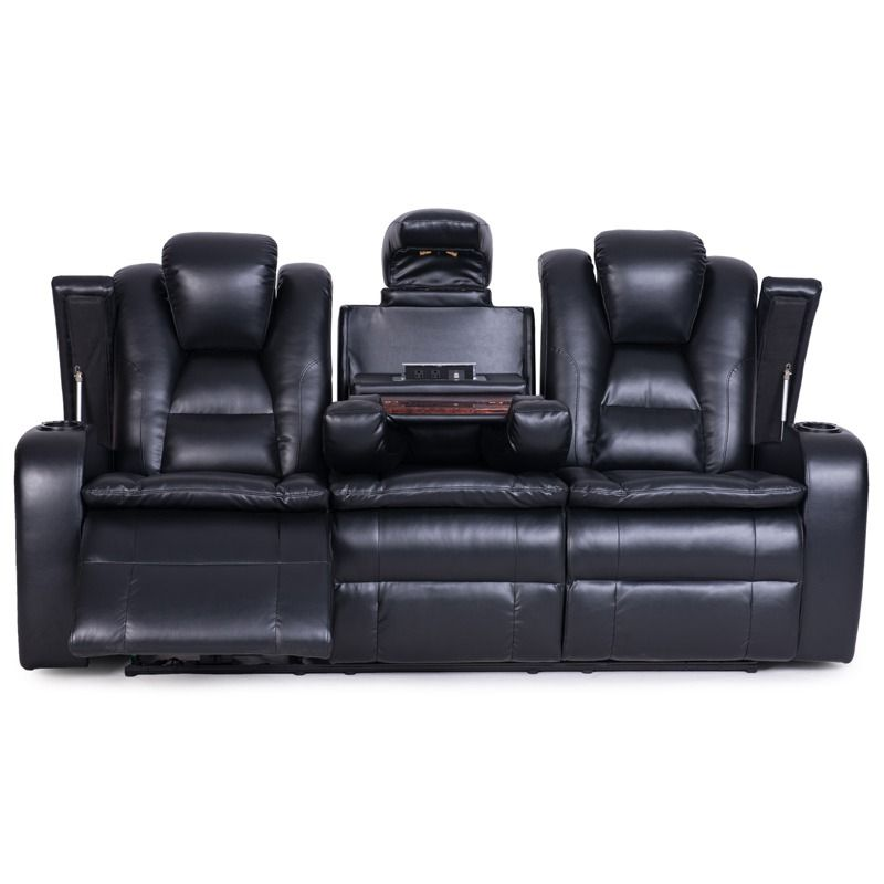 The Faux Leather Look Elevates The Style Of This Reclining