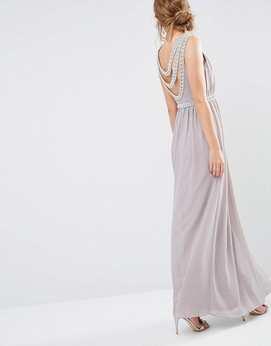 Cameron embellished scoop back maxi dress