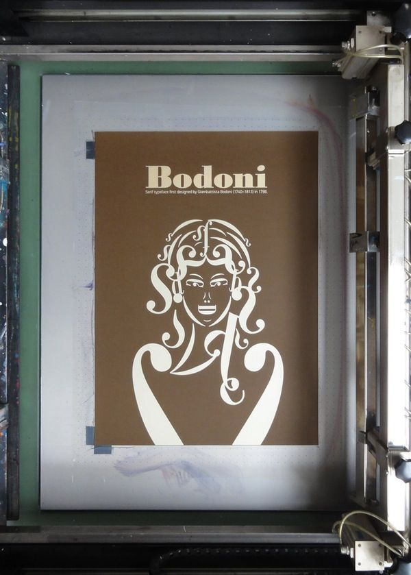 Image of Bodoni Typographic Poster