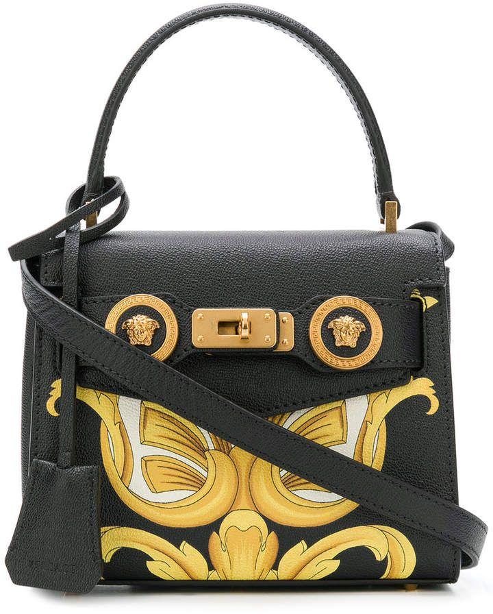ef2d23f431 Versace mini printed tote | Designer Bags | Leather handbags ...