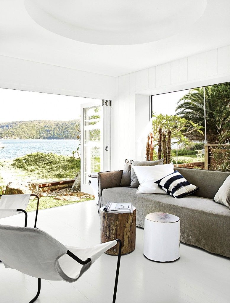 Accent tribal pour maison de plage || Architecte Rachel Hudson ... on