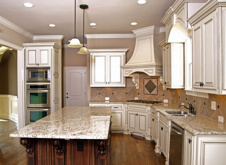 Contemporary granite kitchen countertops colors with white cabinets |  Kitchen | Pinterest | How to paint, Colors and How