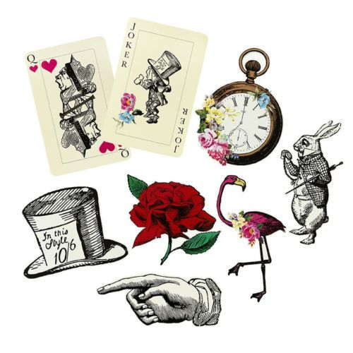 ALICE-IN-WONDERLAND-TRULY-ALICE-MAD-HATTERS-TEA-PARTY-BUNTING-NAPKINS-PLATES
