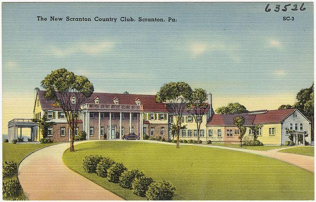 The New Scranton Country Club Scranton Pa Scranton Boston Public Library Postcard