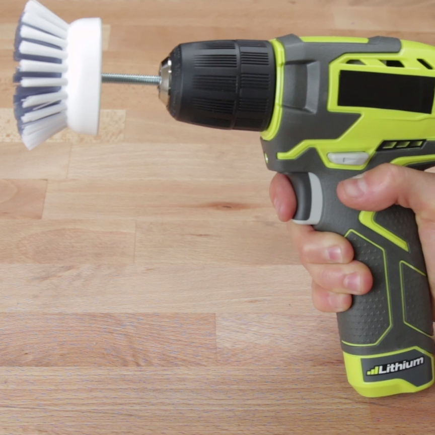 Power Drill Scrubber. Clean In Half The Time With This Power Scrubbing Hack   Cleaning