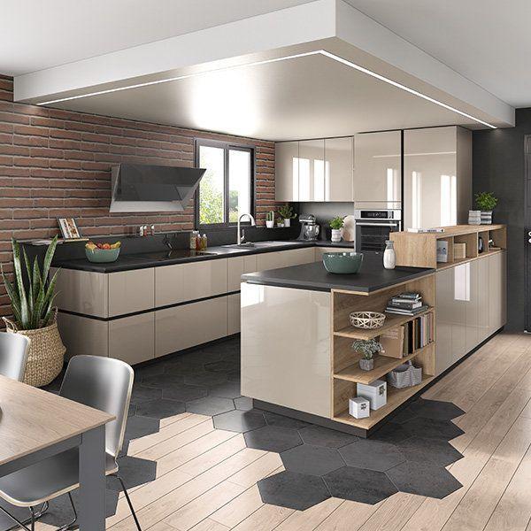 Ambiance Cuisine Equipee Mobalpa Moderne Ouverte Salon Sur Transitional Decor Cuisine Equipee En U Ou In 2021 Moderne Kuchenideen Vinyl Fur Kuche Kuchendesign