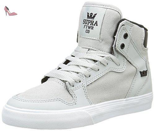 Supra Vaider, Sneakers Hautes Mixte Enfant, Gris (Light Grey/Black/White
